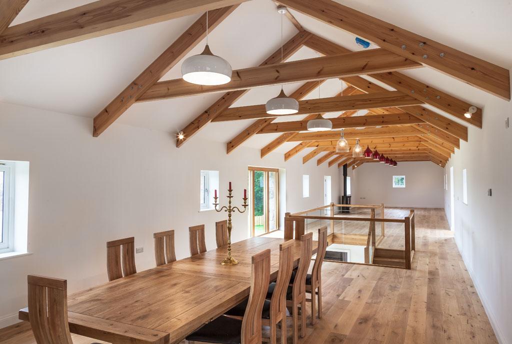 Tregilliowe Barn Interior Dining Room 02