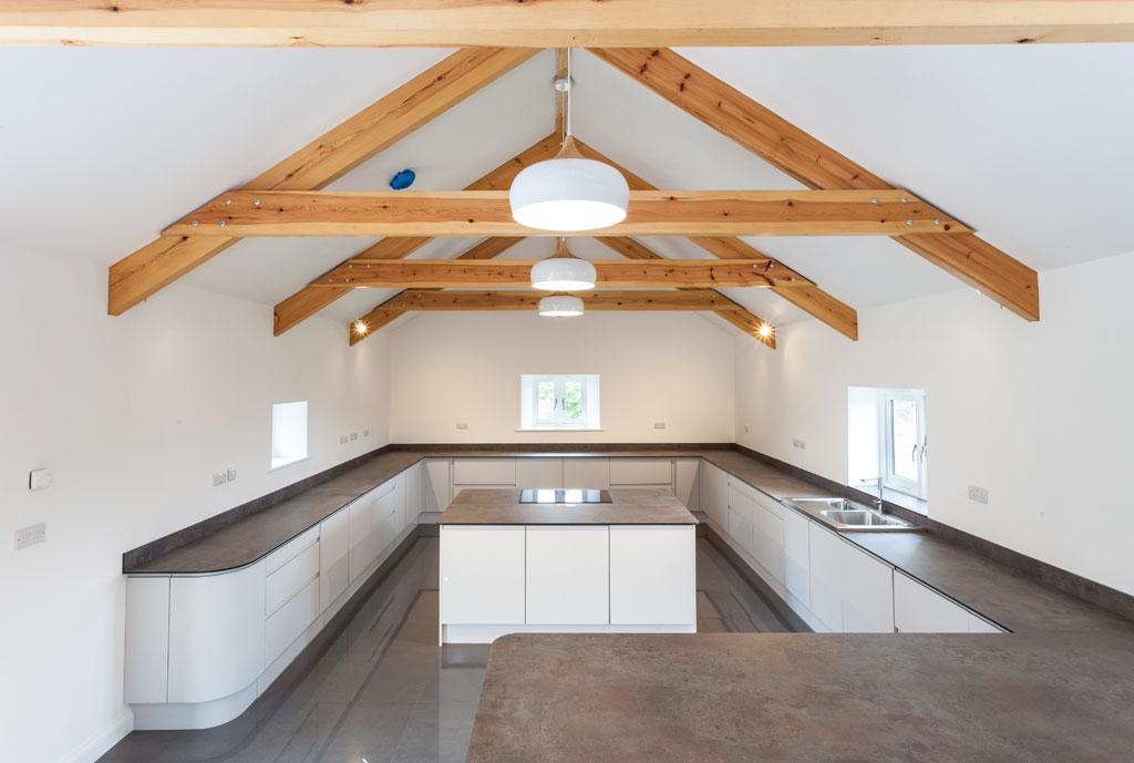 Tregilliowe Barn Interior Kitchen 04